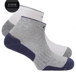 Punto Blanco Pack de 2 calcetines de algodón deportivos efecto antibacteriano