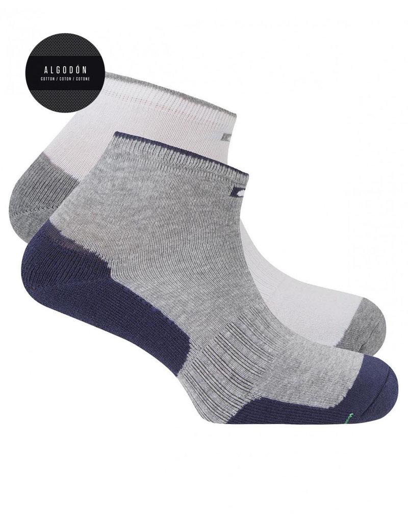Punto Blanco 7496300-581 Pack de 2 calcetines de algodón deportivos efecto antibacteriano