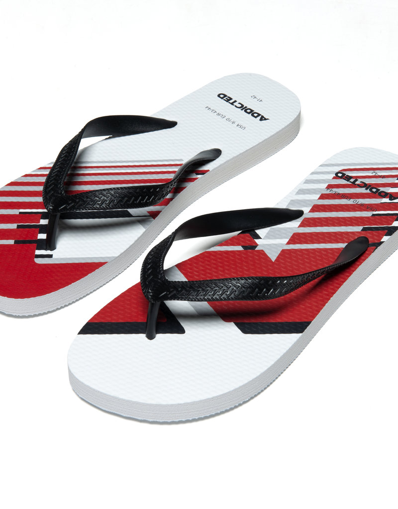 Addicted AD796 AD LOGO FLIP FLOP WHITE