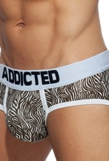 Addicted AD828 Zebra Swimderwear Brief Bruin - push up