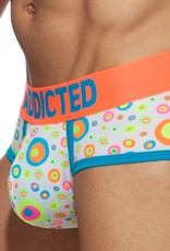 Addicted AD916 Neon Dots Swimderwear Brief Peacock