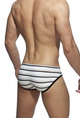 Addicted ADS266 Pique Sailor SwimBrief Ivory - pack up amovible