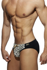 Addicted ADS235 Rombus swim Brief Black - pack up