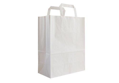 Papieren tas wit 24 x 26 x 11- 1 kleur bedrukt