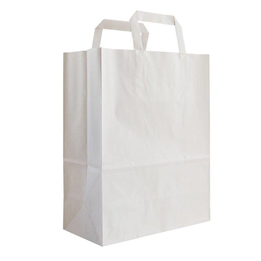 Papieren tas wit 28 x 26 x 19- 1 kleur bedrukt-1