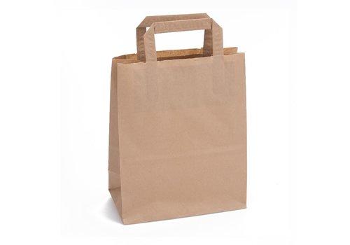 Papieren tas bruin 24 x 26 x 11- 1 kleur bedrukt