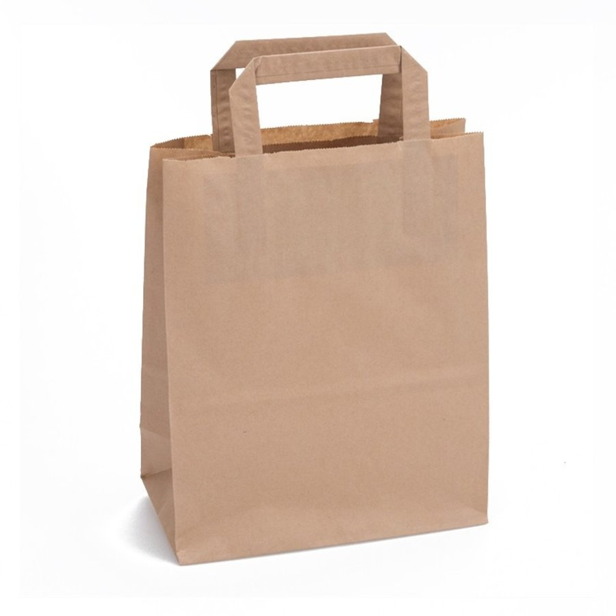 Papieren tas bruin 24 x 26 x 11- 1 kleur bedrukt-1