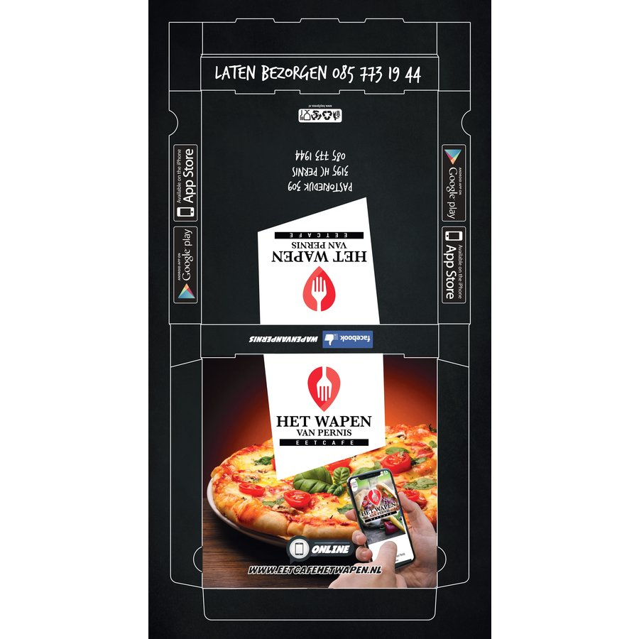 Pizzadozen Bedrukken Full Color 29x29x4cm-2