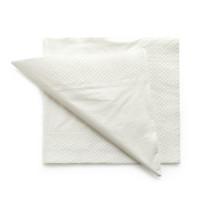 Servetten tweelaags wit - 40x40 - 1 kleur bedrukt vanaf €0,02 p.st.