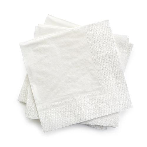 Servetten tweelaags wit - 30x30 - 2 kleuren bedrukt vanaf €0,01 p.st.