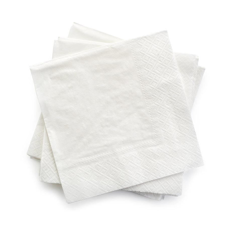 Servetten tweelaags wit - 30x30 -1 kleur bedrukt vanaf €0,01 p.st.-1