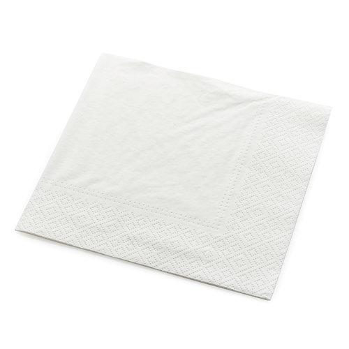 Servetten tweelaags wit - 25x25 - 2 kleuren bedrukt vanaf €0,01 p.st.