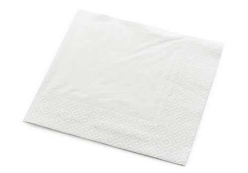 Servetten tweelaags wit - 25x25 -1 kleur bedrukt vanaf €0,01 p.st.