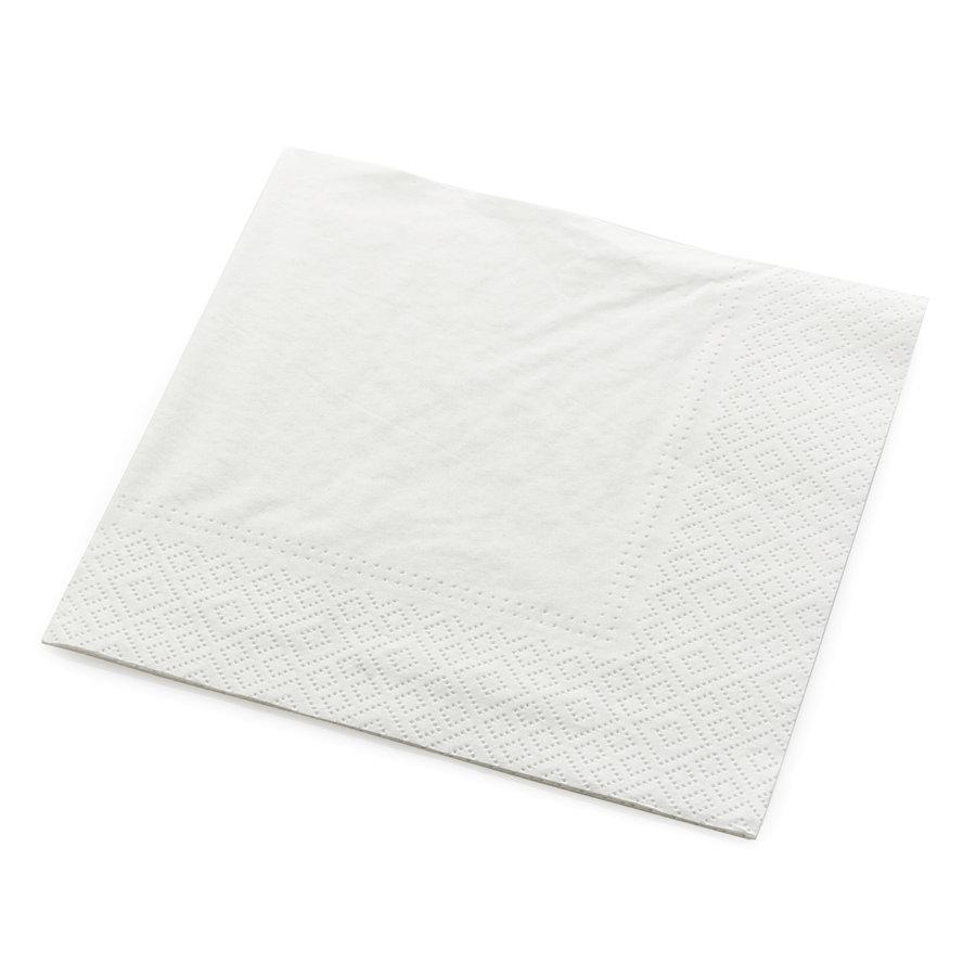 Servetten tweelaags wit - 25x25 -1 kleur bedrukt vanaf €0,01 p.st.-1