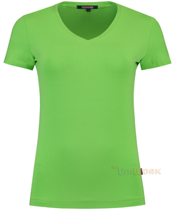 T-Shirt V Hals Slim Fit Dames