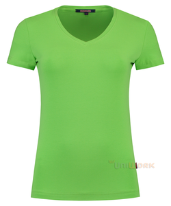 T-Shirt V Hals Slim Fit Dames