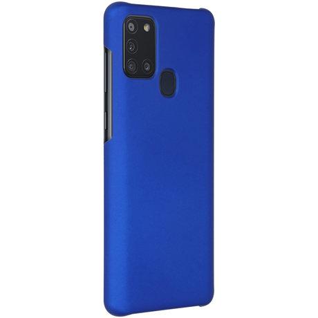 Effen Backcover Samsung Galaxy A21s - Blauw (D)