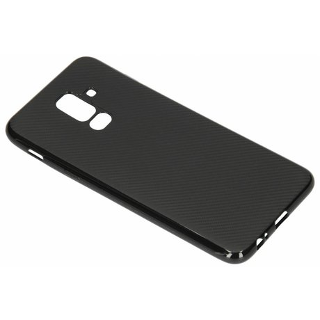 Carbon Softcase Backcover Samsung Galaxy A6 Plus (2018) (D)