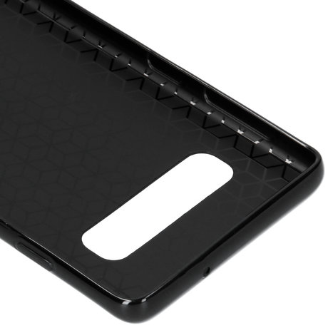 Carbon Softcase Backcover Samsung Galaxy S10 (D)