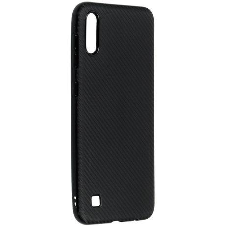Carbon Softcase Backcover Samsung Galaxy A10 - Zwart (D)