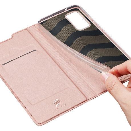 Dux Ducis Slim Softcase Booktype Samsung Galaxy Note 20 - Rosé Goud (D)