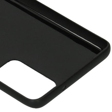 Carbon Softcase Backcover Samsung Galaxy S20 Plus - Zwart (D)
