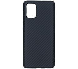TPL Carbon Softcase Backcover Samsung Galaxy A71 - Zwart (D)