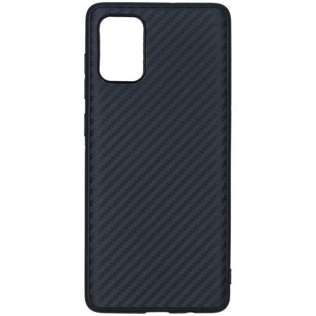 Carbon Softcase Backcover Samsung Galaxy A71 - Zwart (D)