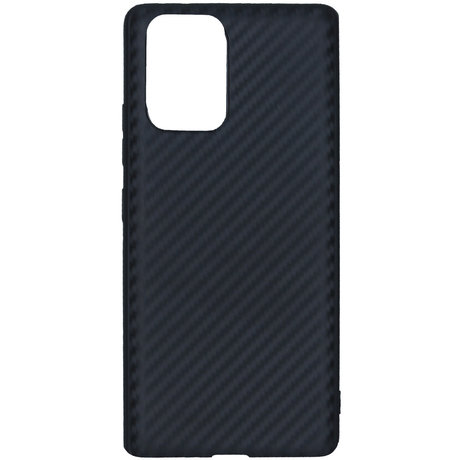 Carbon Softcase Backcover Samsung Galaxy S10 Lite - Zwart (D)