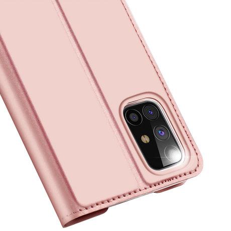 Dux Ducis Slim Softcase Booktype Samsung Galaxy M31s - Rosé Goud (D)