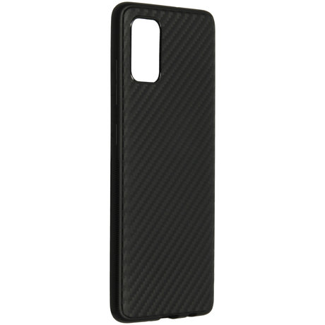 Carbon Softcase Backcover Samsung Galaxy A51 - Zwart (D)