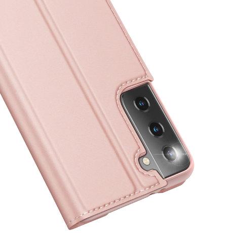 Dux Ducis Slim Softcase Booktype Samsung Galaxy S21 Plus - Rosé Goud (D)
