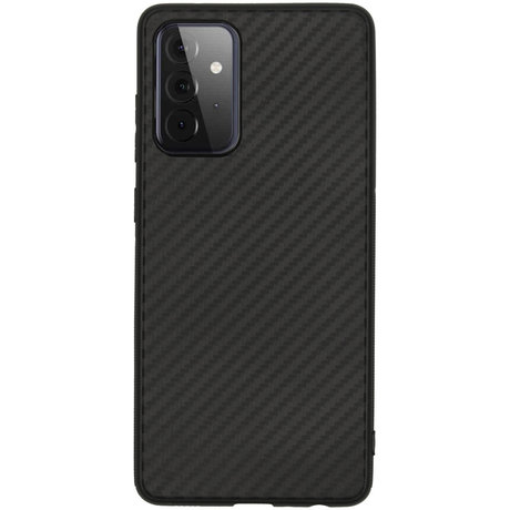 Carbon Softcase Backcover Samsung Galaxy A72 - Zwart (D)