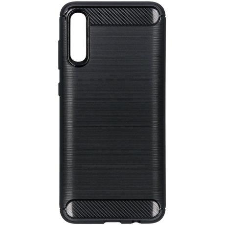 Brushed Backcover Samsung Galaxy A70 - Zwart (D)