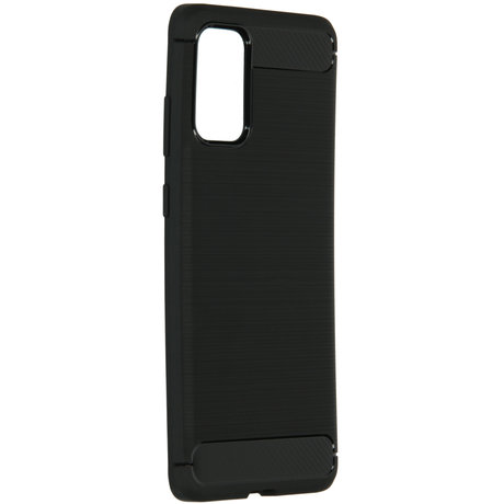 Brushed Backcover Samsung Galaxy S20 Plus - Zwart (D)