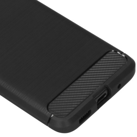 Brushed Backcover Samsung Galaxy S20 - Zwart (D)