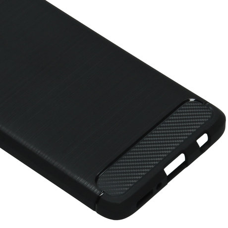 Brushed Backcover Samsung Galaxy A41 - Zwart (D)