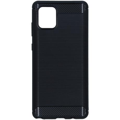 Brushed Backcover Samsung Galaxy Note 10 Lite - Zwart (D)