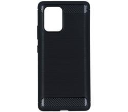 TPL Brushed Backcover Samsung Galaxy S10 Lite - Zwart (D)