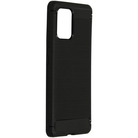 Brushed Backcover Samsung Galaxy S10 Lite - Zwart (D)