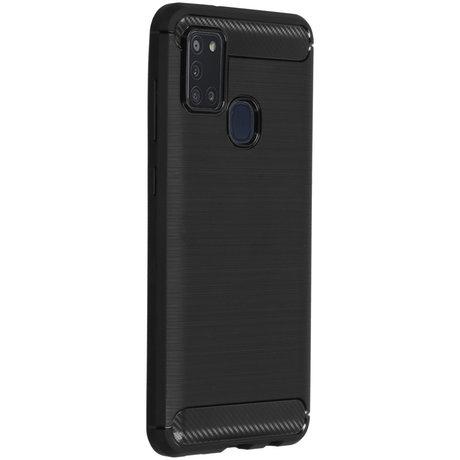 Brushed Backcover Samsung Galaxy A21s - Zwart (D)