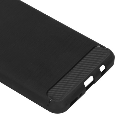 Brushed Backcover Samsung Galaxy M31s - Zwart (D)