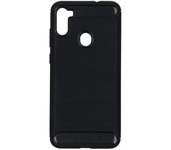 TPL Brushed Backcover Samsung Galaxy M11 / A11 - Zwart (D)