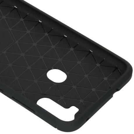 Brushed Backcover Samsung Galaxy M11 / A11 - Zwart (D)