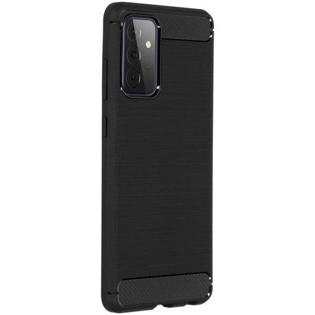 Brushed Backcover Samsung Galaxy A72 - Zwart (D)