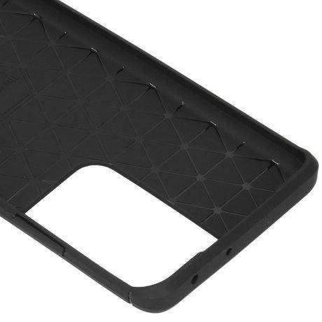 Brushed Backcover Samsung Galaxy S21 Ultra - Zwart (D)