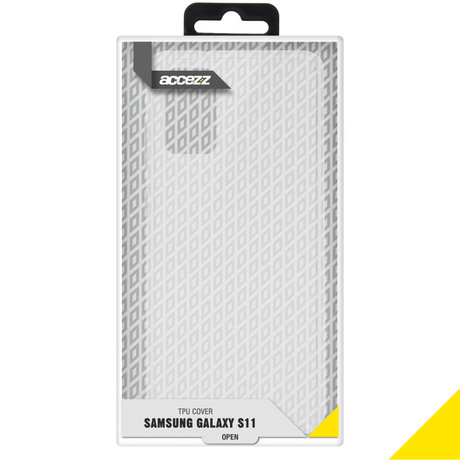 Accezz Clear Backcover Samsung Galaxy S20 Plus - Transparant (D)