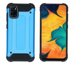 iMoshion iMoshion Rugged Xtreme Backcover Samsung Galaxy A31 - Lichtblauw (D)