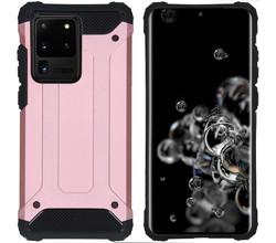 iMoshion iMoshion Rugged Xtreme Backcover Samsung Galaxy S20 Ultra - Rosé Goud (D)