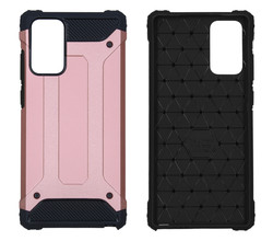 iMoshion iMoshion Rugged Xtreme Backcover Samsung Galaxy Note 20 - Rosé Goud (D)